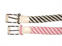 Ladies Belt has a two toned braided texture.