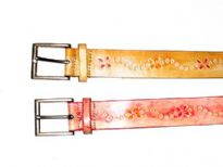 Ladies Belt with floral details.