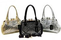 Fashion handbag studded with Rhinestones
