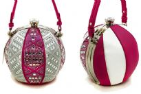 Rhinestones Studded Beach Ball Style Fashion Handbag