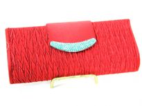 Crochet Satin Evening Bag