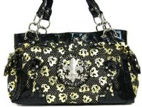 Printed PVC fashion Handbag. top zipper closing.