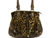 Animal Print Velvet Handbag