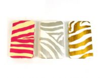 Zebra Print Metallic Frame clutch/wallet