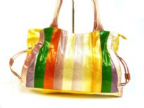Designer Inspired Strip Handbag