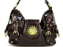 Croco Embossed PVC Fashion handbag