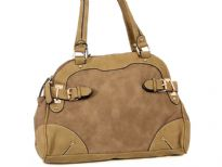 Stone Wash PU Handbag<br> Strap Drop - 8.5 inches