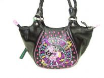 Fashion PU Handbag with Chinese embriodery