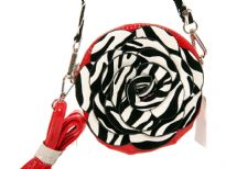 PVC Flower Shoulder Bag. Top zipper closing.