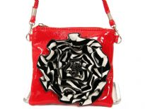 PVC Flower Messenger Bag