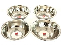 Stainless Steel 2.75 Quarts (24 cm) mixing Bowl. 4 designs