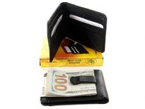 Genuine leather money clip. Comes with Box.