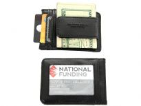 Carry your money in style. This is a man made leather magnetic money clip wallet featuring 2 credit card slots, 1 slide pocket, and 1 ID window. As this is genuine leather, please be aware that there will be some small creases and nicks in the leather but the wallet are all brand new.