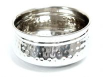Stainless Steel hammered Moroccan Dish Bowl