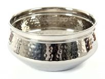 Stainless steel single wall 6.75 inches (1200 ml)Moroccan Dish Bowl. Made in India