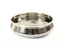 Stainless steel single wall 9.25 inches (2000 ml) Moroccan Dish Bowl. Made in India