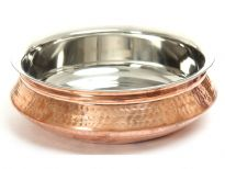 Hammered Copper Stainless Steel Double wall Handi