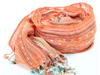 Yarn Dyed 100% viscose scarf.