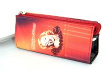 Marilyn Monroe Cosmetic Bag. Top zipper closing.