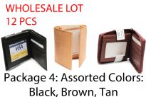 Wholesale lot of 12 genuine leather Mens Wallets. 