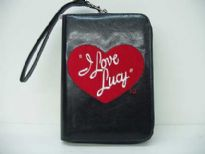 I Love Lucy heart wallet has zipper made with PU (Polyurethane).