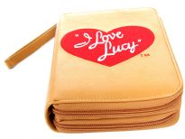 I Love Lucy licensed PVC double all round zipper organizer cum wallet