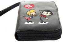 I Love Lucy licensed PVC double all round zipper organizer wallet