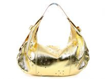 Rina Rich PU Handbag. Top zipper closing. Adjustable shoulder strap.