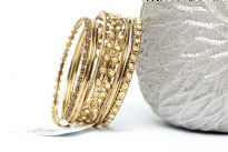 Bollywood fashion bangle bracelet set of 8 pieces. Handcrafted by expert artisans. Durable and high quality construction.