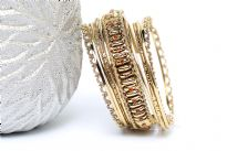 Bohemian fashion bangle bracelet set of 9 pieces. Handcrafted by expert artisans in India. Durable and high quality.