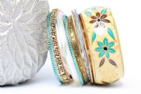 Bohemian Fashion Wide Cuff Bangle Bracelet 11 piece set. Handcrafted by expert artisans in India. Durable and handcrafted.
