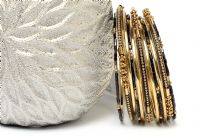 Trendy fashion bangle bracelet set of 11 pieces. Handcrafted by expert artisans. Durable and high quality construction.