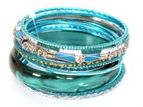 12 Pieces set of Hand Made Bangles