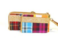Printed Fabric cosmetic bag
