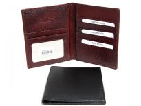 Carry your passport in style. This is a genuine leather RFID blocking Passport holder wallet. Features 6 credit card slots and 1 ID window. This is made of high quality soft & durable cow-hide leather. As this is genuine leather, please be aware that there will be some small creases and nicks in the leather but the wallet are all brand new.