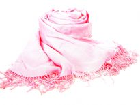 Rayon Pashmina Shawl with beaded fringes.