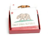 California Republic Print bi-fold men wallet