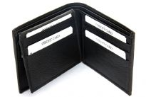 Carry your money in style. This is a double bill bifold mens leather wallet with 9 credit card slots. The leather is excellent quality and soft to the touch. As this is genuine leather, please be aware that there will be some small creases and nicks in the leather but the wallet are all brand new.