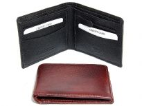 Carry your money in style. This is a genuine leather RFID Blocking bifold mens wallet featuring 4 credit card slots and 1 zipper coin pocket. The wallet features RFID blocking technology to protect your credit card and identity safe. As this is genuine leather, please be aware that there will be some small creases and nicks in the leather but the wallet are all brand new.