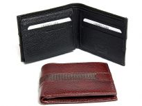 Carry your money in style. This is a genuine leather mens wallet with elegant stitch design. The wallet features 9 credit card slots, 1 ID Window and double bill bifold design. This wallet features RFID blocking technology to keep your card and identity safe. As this is genuine leather, please be aware that there will be some small creases and nicks in the leather but the wallet are all brand new. 