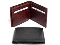 Carry your money in style. This is a genuine leather RFID Blocking bi-fold mens wallet. Features 9 credit card slots, one ID window. High quality soft durable leather. High quality genuine leather is durable and soft to the touch. As this is genuine leather, please be aware that there will be some small creases and nicks in the leather but the wallet are all brand new.