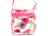 Betty Boop Licensed Printed PVC Messenger Bag made of fabric. Has zipper closure and one adjustable strap.