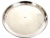 Stainless Steel 20 inches swirl round tray. Made in India