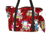 Betty Boop flames large tote