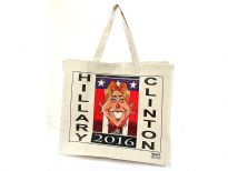 100% cotton canvas reusable shopping bag