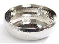 Hammered Stainless Steel Moroccan Dish Bowl