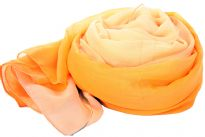 Yellow ombre 100% polyester scarf which is soft & lively to use all year around in summers as well as cool weather to add style to your outfit. Very wide in size to use as a shawl too. Imported.