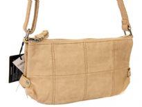 PU Double Zip Top Messenger Bag
