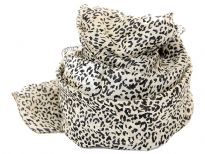 Animal print square silk scarf