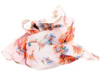 Printed Pure silk square scarf